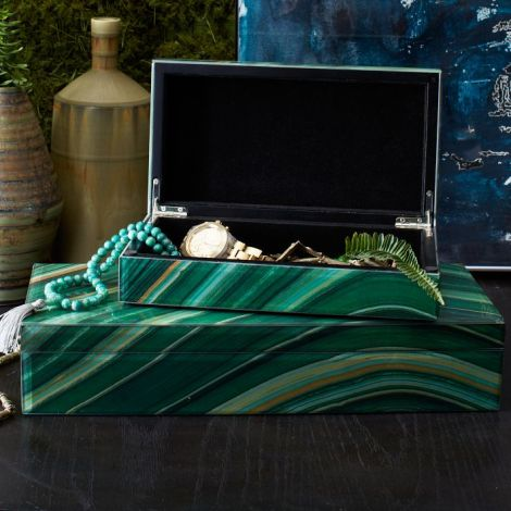 Agate boxes from West Elm