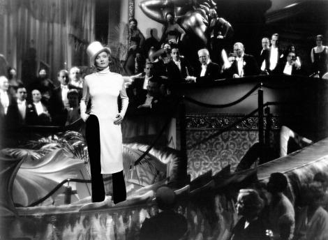 Marlene Dietrich in Balenciaga, Blonde Venus