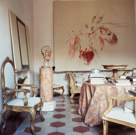 Cy Twombly's Roman home