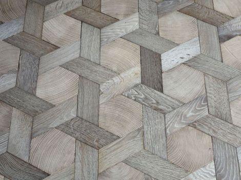 hexagon oak floor